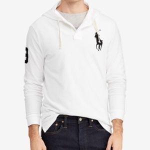 NWT Ralph Lauren LS Mesh Big Pony Hoodie Pullover